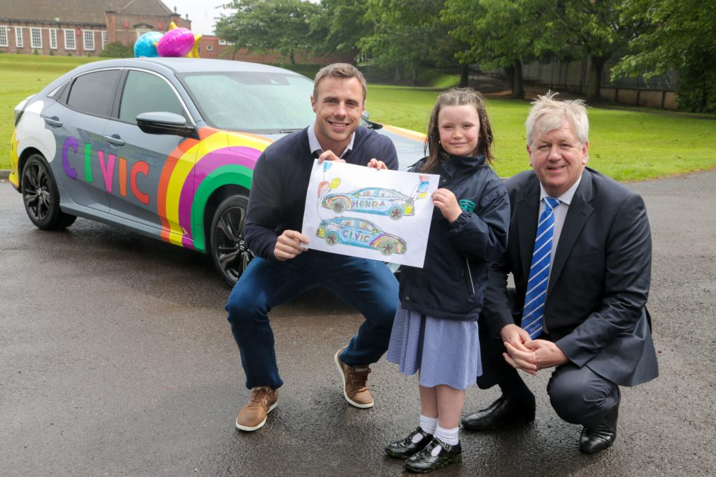 Evie Loughery, Primary Five pupil in Miss Courtenay's class at Strandtown Primary School, Belfast beat over 600 other entries to have her Honda Civic design brought to life!