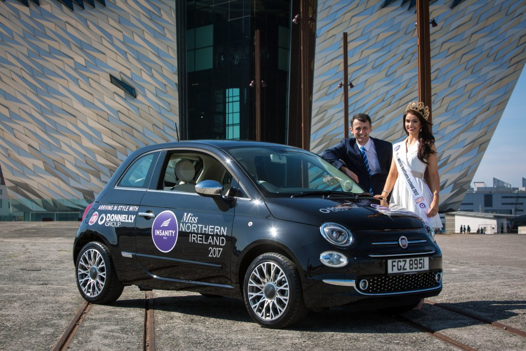 Newly-crowned 2017 Insanity Tan Miss Northern Ireland is hitting the roads in style thanks to Donnelly Group Fiat