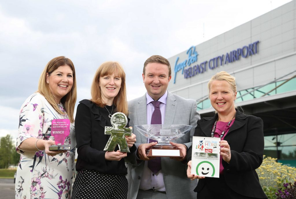 George Best Belfast City Airport is celebrating after winning three prominent awards in the last number of weeks for its ambitious and successful community and employee initiatives.