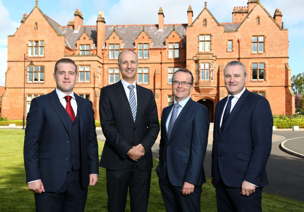 Institute of Directors Northern Ireland (IoD NI) Chairman Ian Sheppard, second from left, congratulates the latest local directors to achieve Chartered status including, Robert McConnell of CCP Gransden, who at 31 is the youngest ever to receive the award locally; Brian Murray, CEO of The Workspace Group and Stephen Reid, Chief Executive of Ards and North Down Borough Council. The next local IoD Chartered Director Programme, run by Director Development Ireland, commences in the final week of September and will run until the June 2018 Diploma examination while a further course will run from the end of January 2018 until November including a summer break. The course is designed to raise standards of governance and business leadership across the private and public sectors. For further information, please visit www.iod.com/ni.