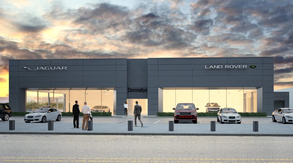 Northern Ireland's largest family owned new and used vehicle retailer, the Donnelly Group, has announced plans for a new £6 million Jaguar Land Rover showroom at its flagship site in Dungannon.