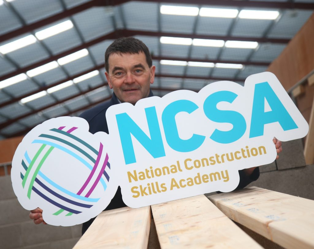 Industry Training Services Managing Director Brendan Crealey launches the National Construction Skills Academy