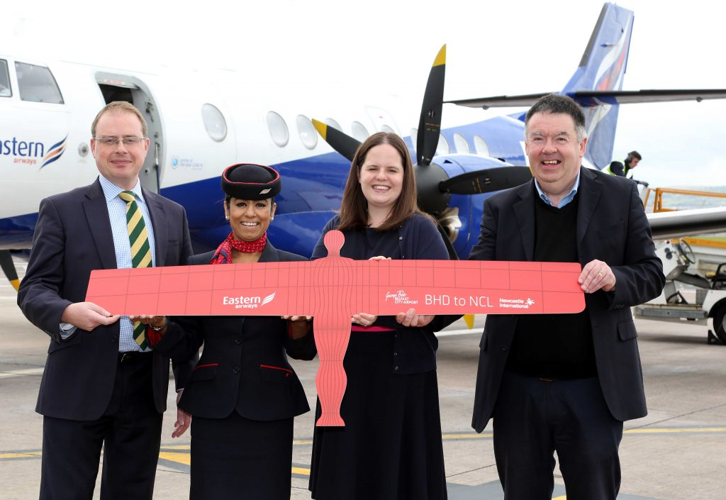 Eastern Airways today launched its new non-stop service from Belfast City Airport (BHD) to Newcastle – less than six months after the airline first entered the Northern Ireland market.