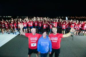 GRANT THORNTON RUNWAY RUN SCALES NEW HEIGHTS Richard Gillan, Managing Partner of Grant Thornton in Northern Ireland, Chris Henry, Ulster Rugby star and event ambassador, and Gail McKee of charity partner Make-A-Wish Foundation join runners at the starting line at last nightÕs Grant Thornton Runway Run at Belfast City Airport. The hugely-popular event attracted a record number of runners as 600 local businessmen and women took part in the 5k run on the tarmac of the airport. Teams of four from organisations across a wide range of sectors came together for the third year of the leading business advisory firmÕs event.