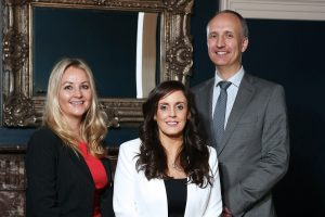 The Institute of Directors Northern Ireland (IoD NI) has expanded with the addition of two new jobs and the opening of a new office in Belfast city centre. Pictured with IoD NI chairman Ian Sheppard are, from left, Emma Jayne Mawhinney, Business Development Manager for Professional Development, and Dr Elaine O'Neill, who joins IoD NI as Programme Director. The new roles, which bring the overall number employed by the leading business organisation to five, are focused on growing the IoD's learning and professional development offering. The IoD NI, which will continue to be headquartered at Riddel Hall, has also taken new space at the Scottish Provident Building on Donegall Square West to facilitate the expansion.