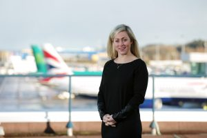 Katy Best, Commercial Director at Belfast City Airport which has once again been shortlisted in the 'Under 4 Million Passenger' category of the Routes Europe Marketing Awards.