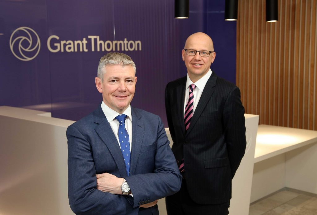 Grant Thornton has revealed further growth plans for its Belfast office with the appointment of Patrick Gallen as new Partner. Patrick, pictured left with Richard Gillan, Managing Partner of Grant Thornton Northern Ireland, will head up the leading business advisory firm's new People and Change Consulting practice, which will provide support for businesses in strategic workforce planning and the delivery of effective training. Specialising in delivering behavioural change through capability building, Patrick has over 28 years' experience in developing People and Organisation businesses on a UK and global scale.