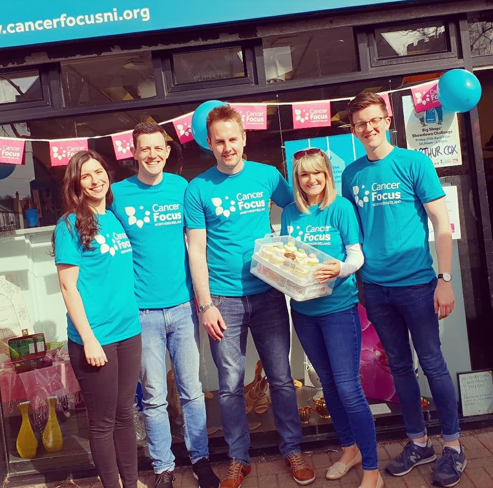 Leading law firm Arthur Cox has raised over £3,500 for Cancer Focus Northern Ireland as part the Big Shops' Showdown, a one-day charity shop takeover challenge.