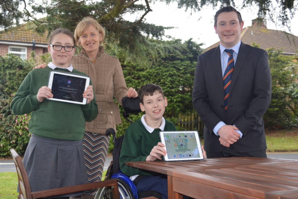 The George Best Belfast City Airport Community Fund has provided furniture which has enabled a local school to set up an outdoor classroom.