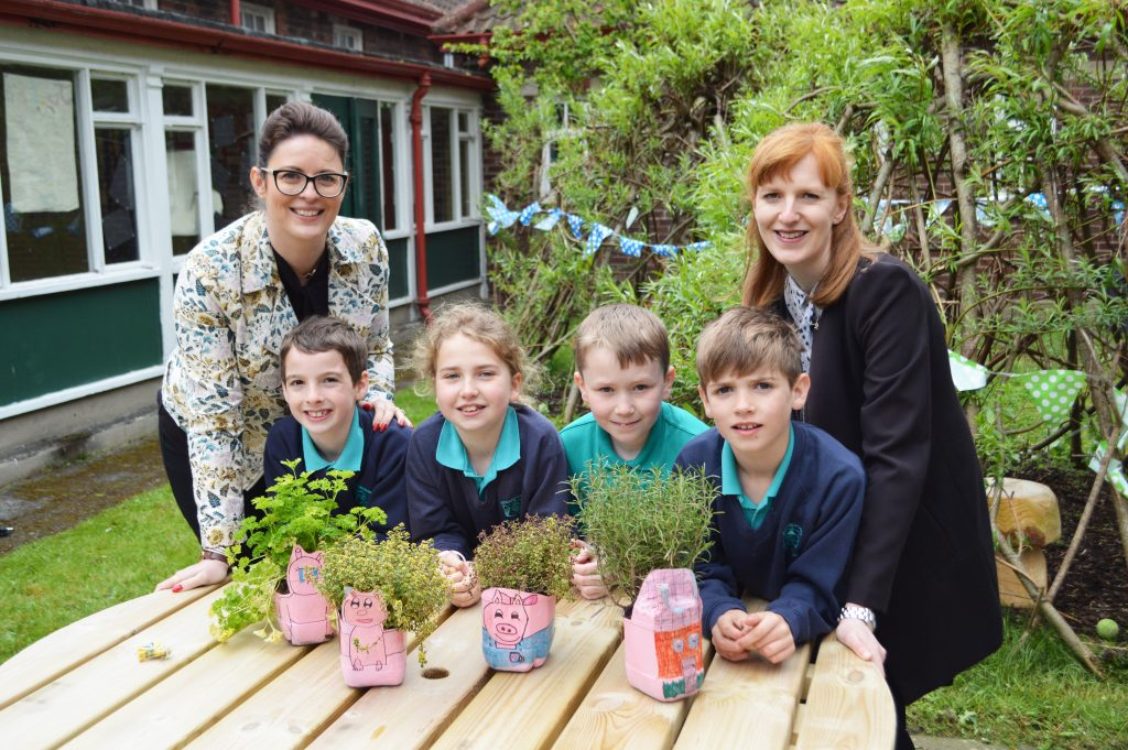 Strandtown Primary School used the funds to renovate an old courtyard into an interactive learning space, complete with all-weather furniture, games and a wooden tepee for the children to play in.