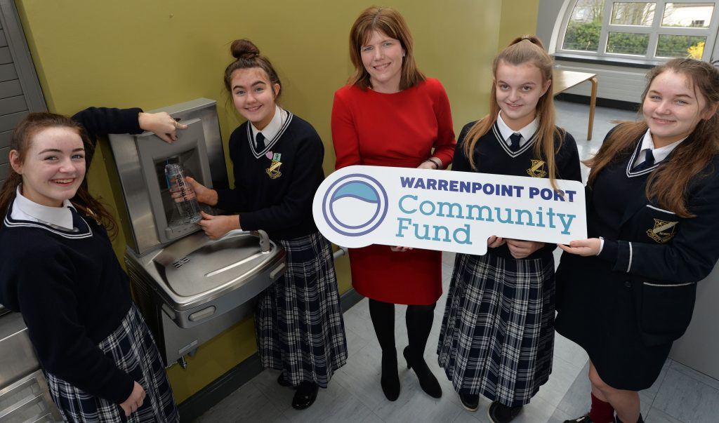 NEW WATER STATIONS AT NEWRY SCHOOL THANKS TO WARRENPOINT PORT