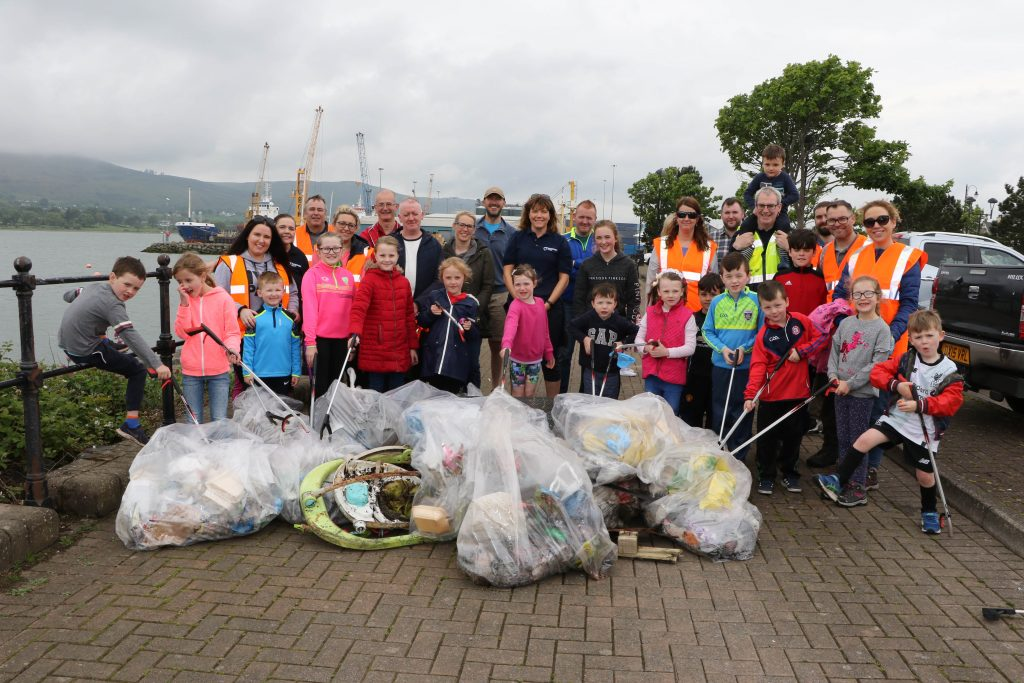 Warrenpoint Port coastal clean up 2019