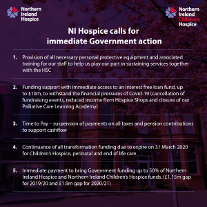 NI Hospice calls on Government for immediate action