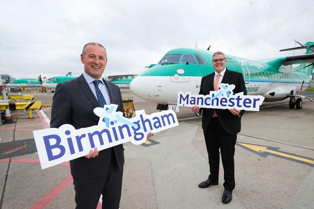Birmingham and Manchester