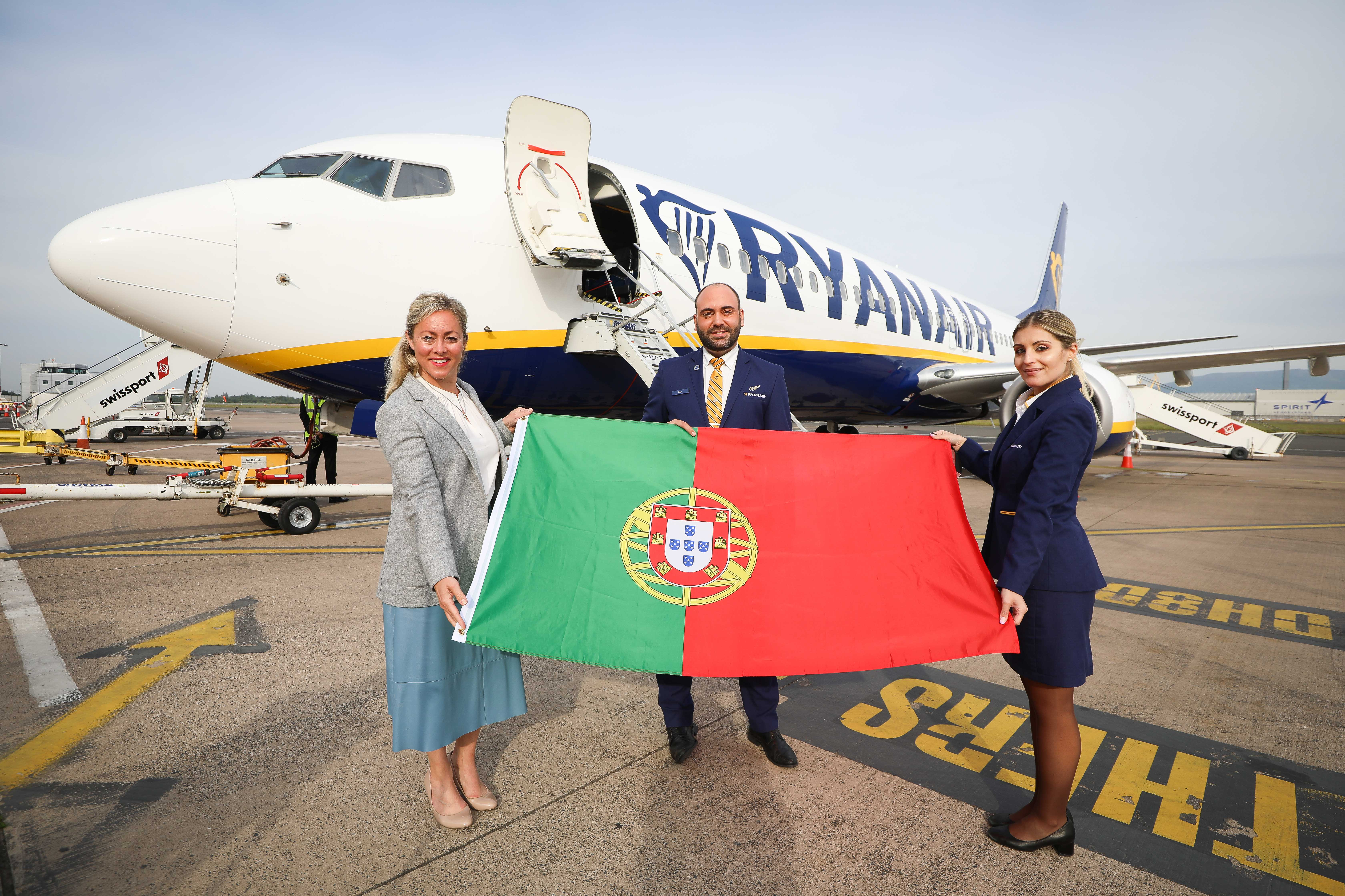 Ryanair Flights to Portugal and Spain Take Off from Belfast City Airport