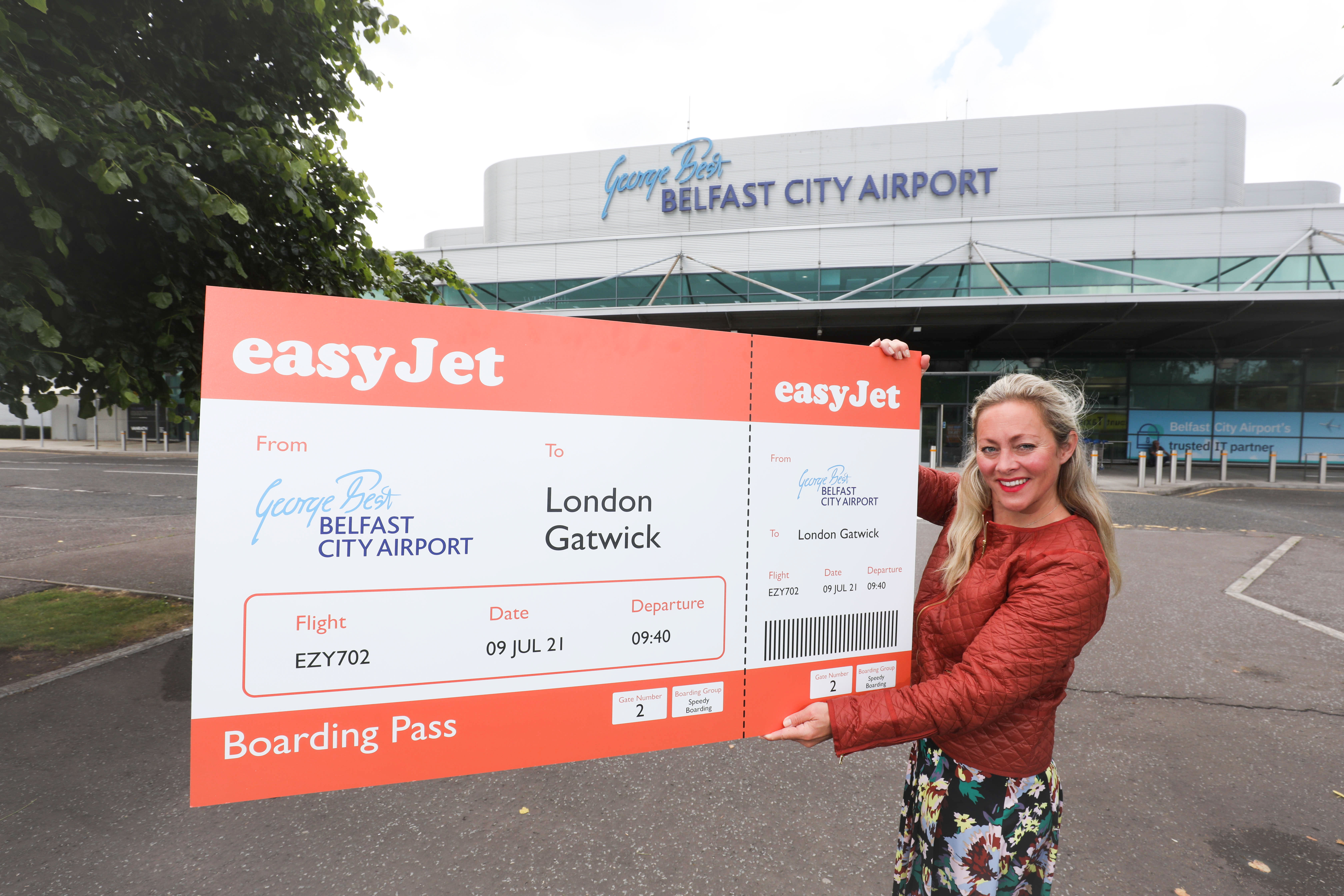 easyJet from Belfast City Airport