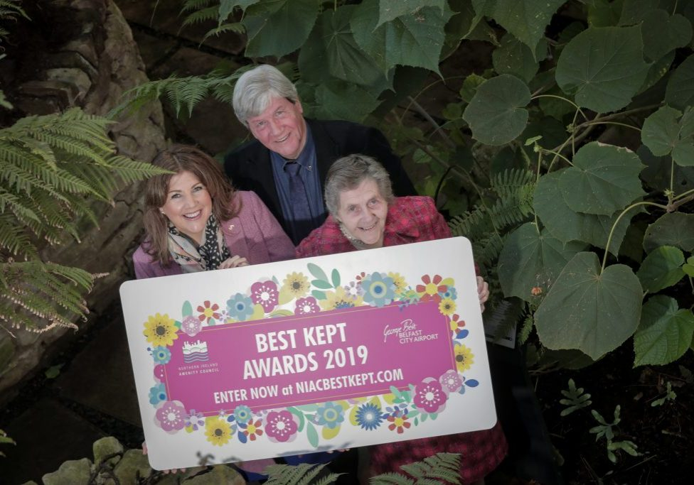 (2) Entries are now open for the 2019 Best Kept Awards, sponsored by George Best Belfast City Airport. The awards seek to find the best kept schools, towns and villages, and healthcare facilities across Northern Ireland. Launching the awards at the Tropical Ravine in Botanic Gardens, Belfast, from left, is from left, Michelle Hatfield, Director of Corporate Services at Belfast City Airport; Joe Mahon, Patron of the NI Amenity Council and Doreen Muskett MBE, President of the NI Amenity Council. For more information or to enter the awards please visit www.niacbestkept.com.