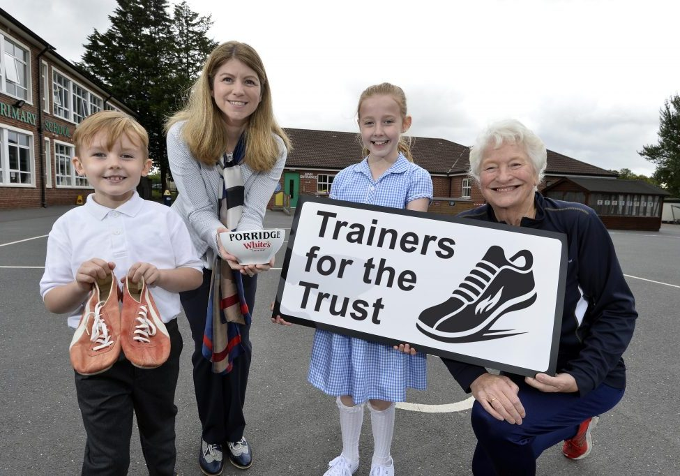 Schools urged to take part in Mary Peters' 'Trainers for the Trust'