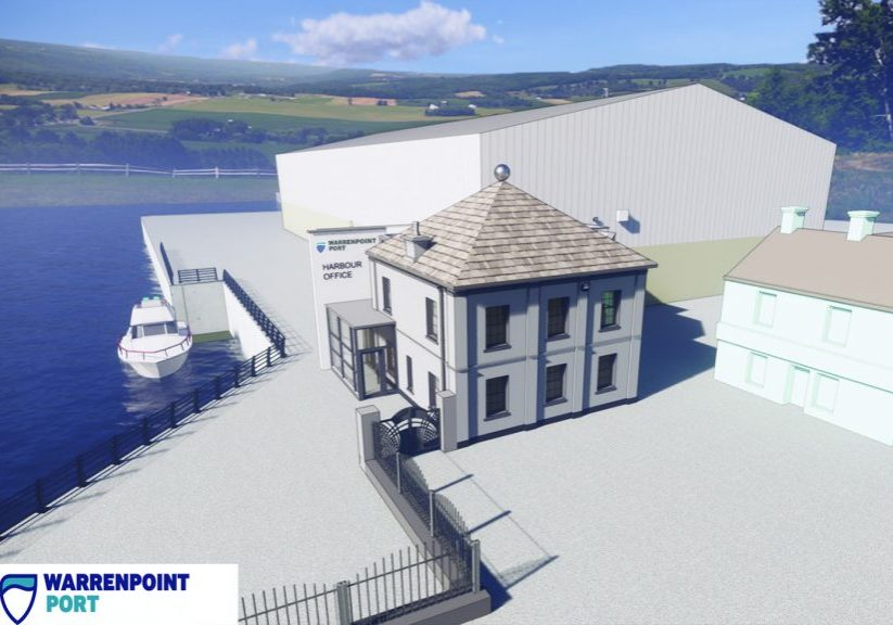 Work has commenced on the redevelopment of the landmark Town Dock House at Warrenpoint Port, the flagship project in the harbour's £4 million capital investment programme.